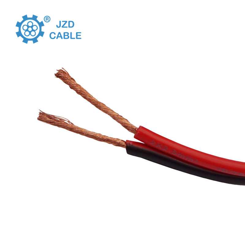 Red And Black Speaker Cable 2*1.5mm PVC Insulated Electric Cable Wires